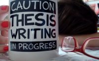 thesis start writing